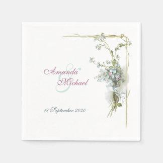 Forget me nots wedding design paper napkin