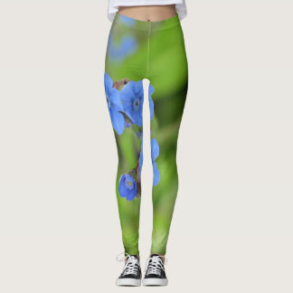 Forget Me Nots With Bee Leggings