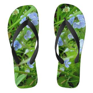 Forget Me Nots  Women's Flip Flops