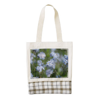 Forget Me Nots Zazzle HEART Tote Bag