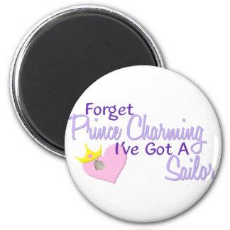 Forget Prince Charming - Sailor Magnet