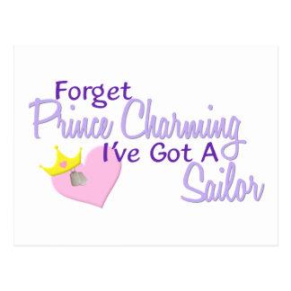 Forget Prince Charming - Sailor Postcard
