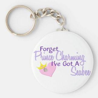 Forget Prince Charming - Seabee Key Chain