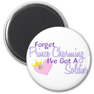 Forget Prince Charming - Soldier 2 Inch Round Magnet