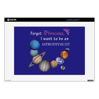 """Forget Princess - Astrophysicist 15"""" Laptop Skin"""