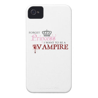 """""""Forget Princess, I Want to Be A Vampire"""" iPhone 4 Cover"""