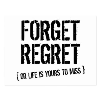 Forget Regret Postcard