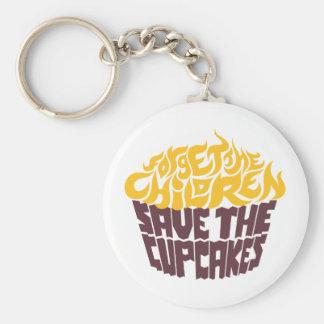 Forget the Children - Gold+Chocolate Basic Round Button Keychain