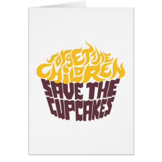 Forget the Children - Gold+Chocolate Greeting Card