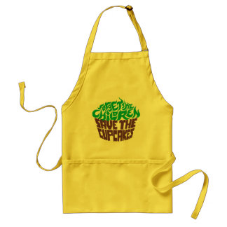 Forget the Children - Green+Dark Chocolate Adult Apron