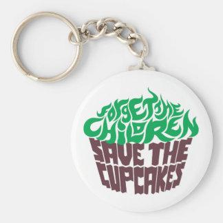 Forget the Children - Green+Dark Chocolate Basic Round Button Keychain