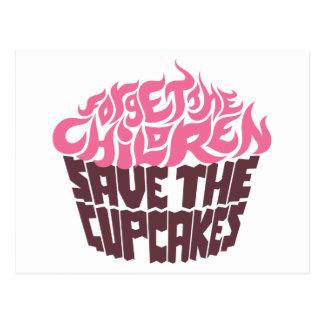 Forget the Children - Pink+Dark Chocolate Postcard