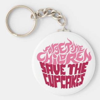 Forget the Children - Pink+Maroon Basic Round Button Keychain
