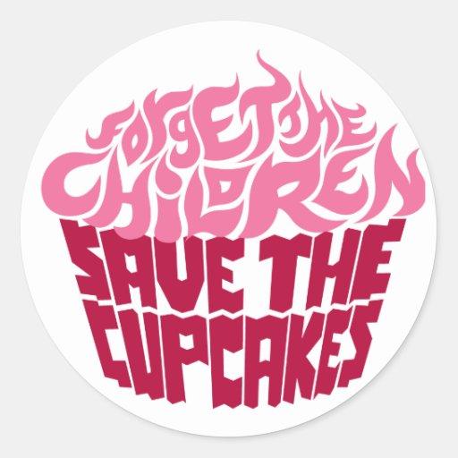 Forget the Children - Pink+Maroon Classic Round Sticker