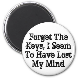 Forget The Keys, I Seem To Have Lost My Mind Magnets