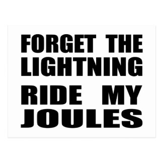 Forget The Lightning Ride My Joules Postcard