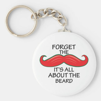 Forget The Mustache Key Chain