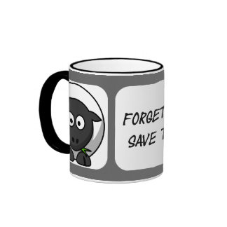 Forget the whales, save the sheeple ringer coffee mug