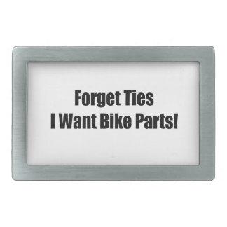 Forget Ties I Want Bike Parts Rectangular Belt Buckles