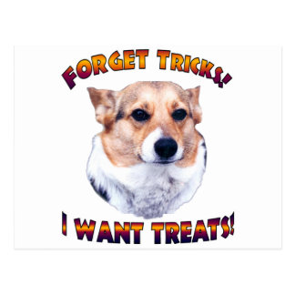 Forget Tricks! I WANT TREATS!-OC Post Cards