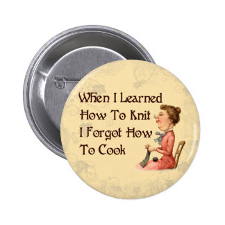 Forgetful Knitter 2 Inch Round Button
