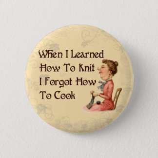 Forgetful Knitter Pinback Button