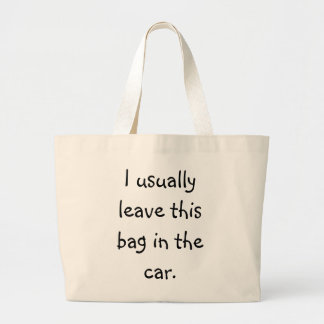 Forgetful Shopper 5 Large Tote Bag