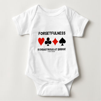 Forgetfulness Is Disastrous At Bridge (Card Suits) Baby Bodysuit