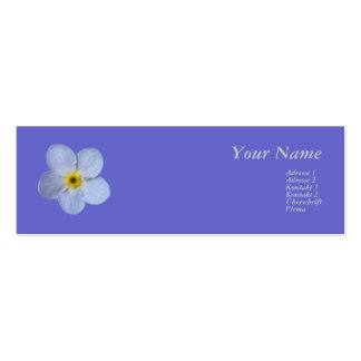 Forgetmenot /Vergissmeinnicht Double-Sided Mini Business Cards (Pack Of 20)