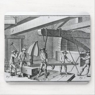 Forging an anchor, from 'Encyclopedia' by Denis Mouse Pad