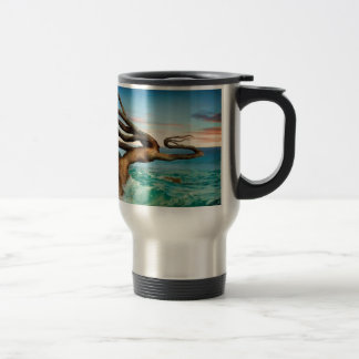 Forging On - Abstract Expressionist Painting Travel Mug