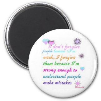Forgive 2 Inch Round Magnet
