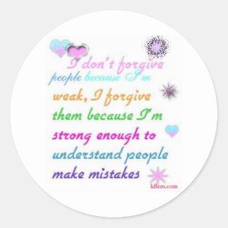 Forgive Classic Round Sticker