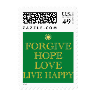 Forgive, hope, love, live happy by healing love stamp
