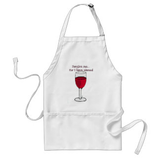 FORGIVE ME FOR I HAVE ZINNED...WINE PRINT BY JILL ADULT APRON