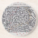 Forgive Me, Lord Doodle Art Products Drink Coaster