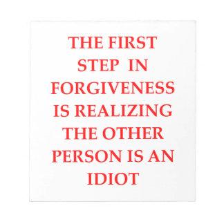 FORGIVE NOTEPAD