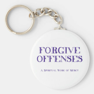 Forgive offenses keychain