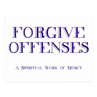 Forgive offenses postcard