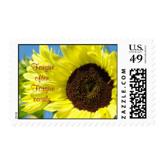 Forgive often Forgive easily postage stamp Floral