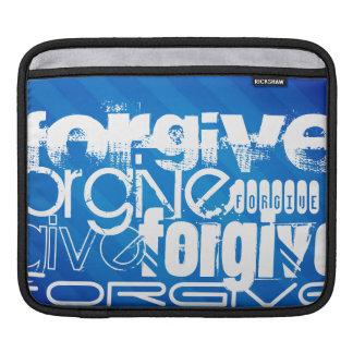 Forgive; Royal Blue Stripes iPad Sleeve