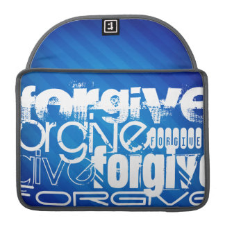 Forgive; Royal Blue Stripes Sleeve For MacBooks