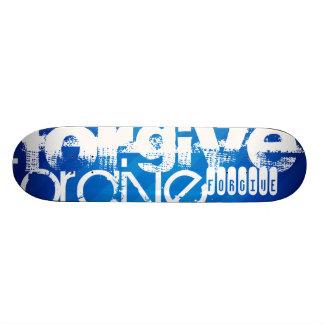 Forgive; Royal Blue Stripes Custom Skateboard