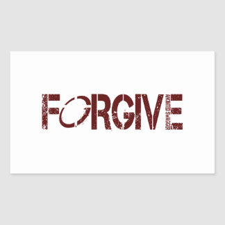 FORGIVE RECTANGLE STICKERS
