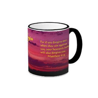 Forgive Sunset Angel Mug