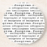 Forgiven, a dictionary definition beverage coaster