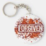 Forgiven Basic Round Button Keychain