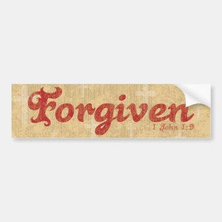 Forgiven Car Bumper Sticker