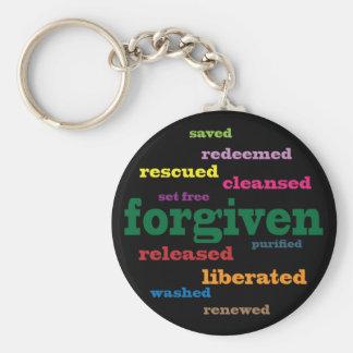 Forgiven Christian keychain (black)