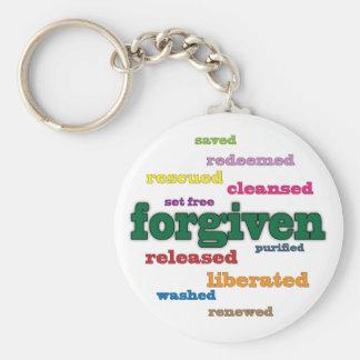 Forgiven Christian keychain (white)